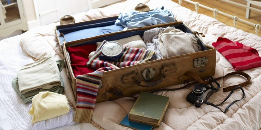 Overstuffed travel bag