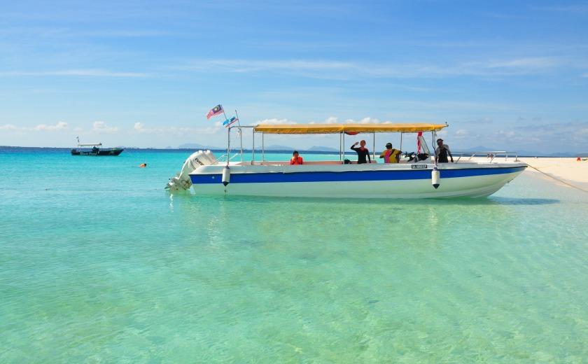 Malaysia island boat