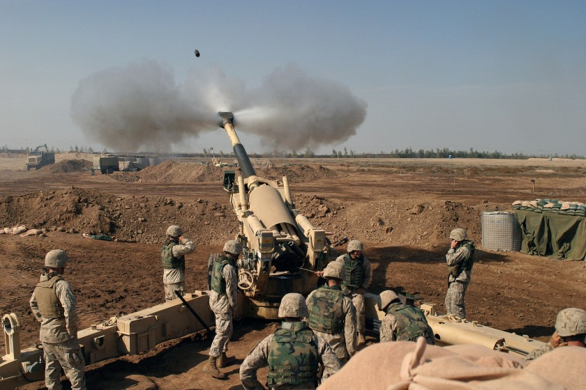 Middle East war Howitzer gun