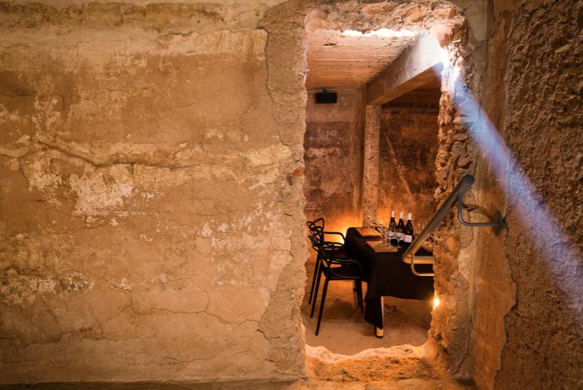 Esona underground cellar wine tasting