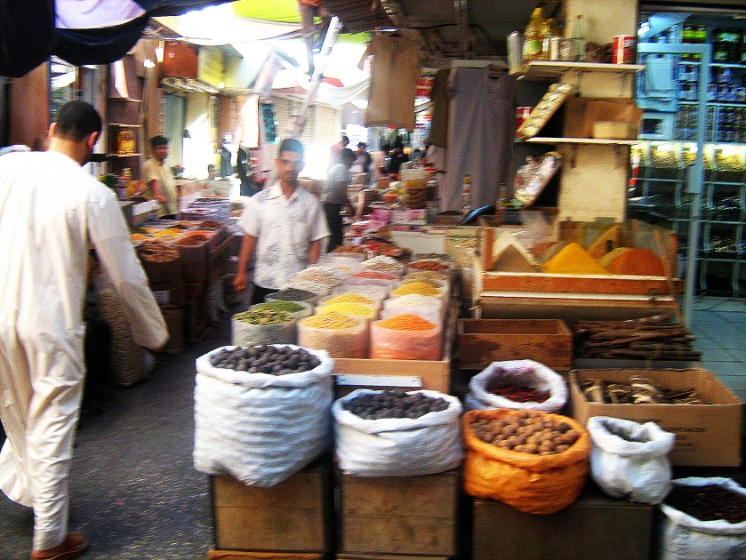 Souk market places Bahrain Middle East