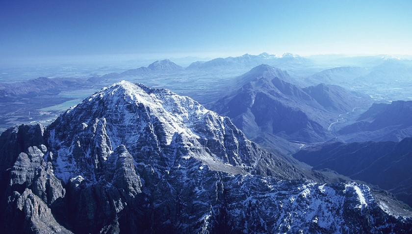 Hex River Mountains in winter