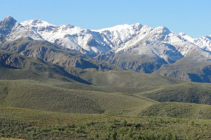 Langeberg Mountain Range in winter