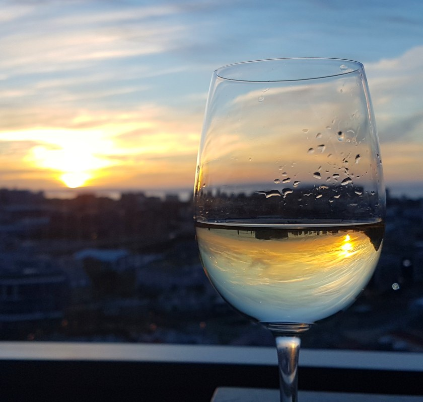 Cape Town sunset wine