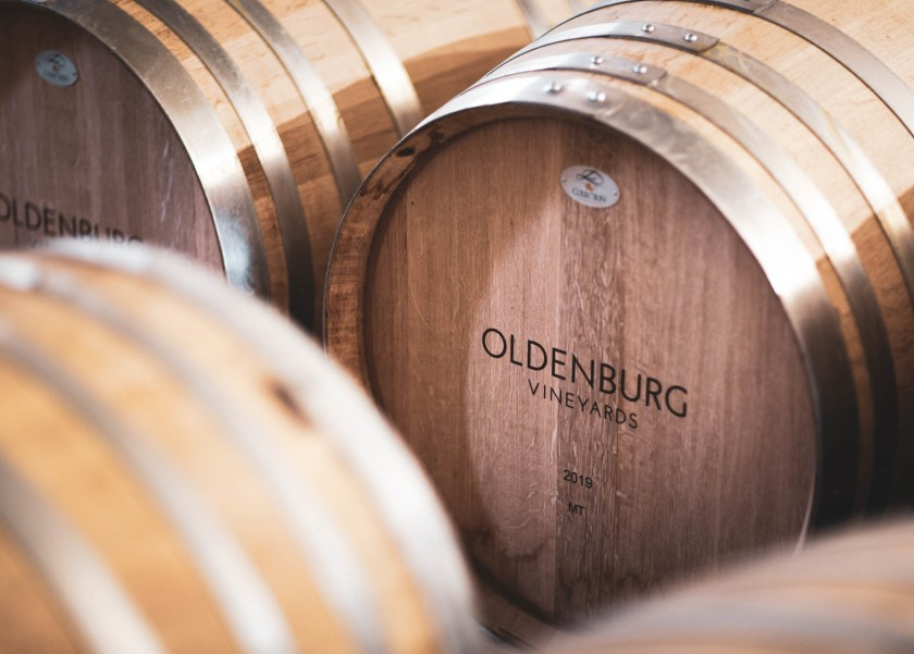 Oldenburg Vineyards - barrels